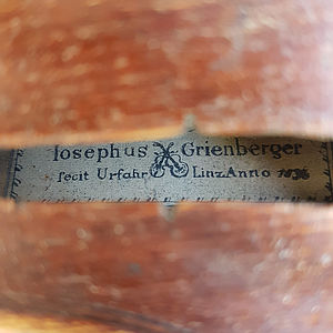Barockvioline mit Etikett Josephus Grienberger 1