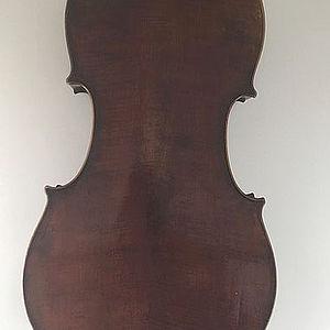 """Cello mit Brandstempel """"Richard Weichold, Dresden"""" 3"""