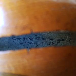 Barockvioline mit Etikett Johann Adam Schönfelder 2