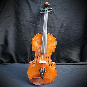 Violine mit Zettel Paolo Giacomelli 2