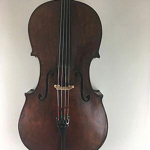 """Cello mit Brandstempel """"Richard Weichold, Dresden"""" 1"""