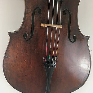 """Cello mit Brandstempel """"Richard Weichold, Dresden"""" 2"""