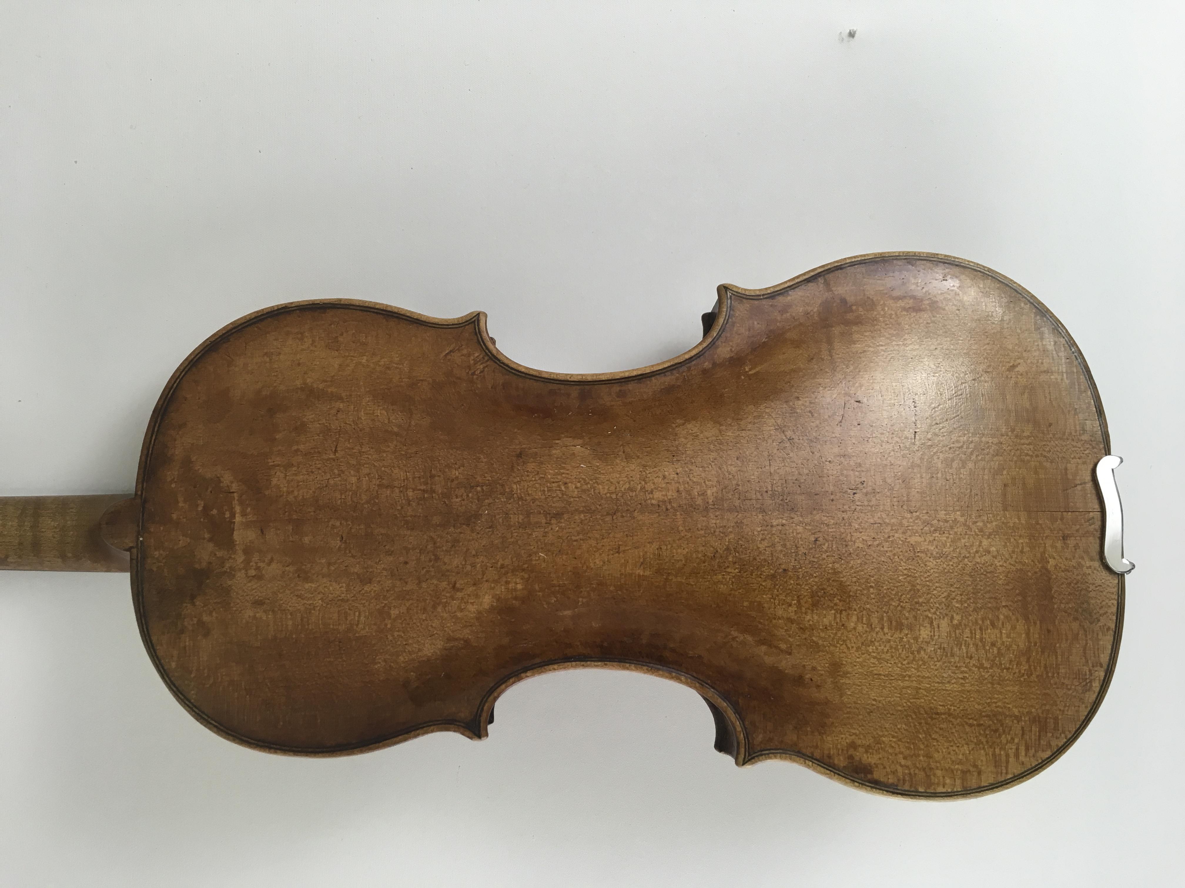 """Violine mit Zettel  """"Georg Klotz, Mittenwald 1732"""" 2"""